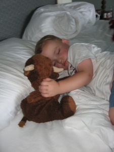Michael sleeping