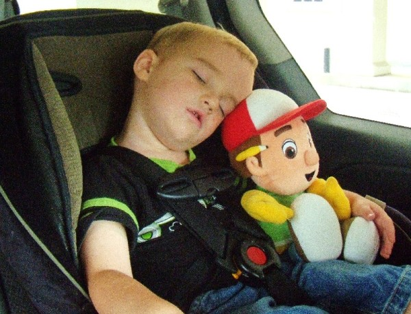 Michael falls asleep almost EVERY afternoon in the car. I'm glad he finally found the perfect pillow.